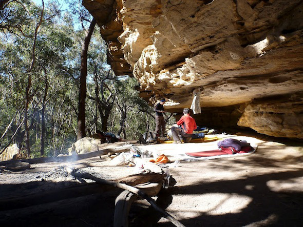 camp-cave-in-the-morning